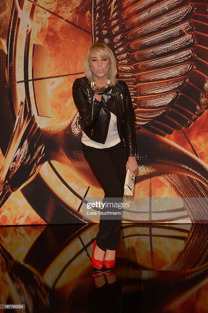 Annemarie Eilfeld attends the German premiere of the film 'The Hunger Games - Catching Fire' (Tribute von Panem - Catching Fire) at Sony Centre on November 12, 2013 in Berlin, Germany.