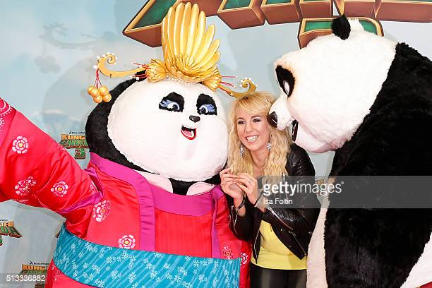 Annemarie Eilfeld attends the 'Kung Fu Panda 3' German Premiere at Zoo Palace on March 02 2016 in Berlin Germany