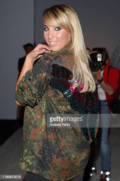 Annemarie Eilfeld attends the LeGer by Lena Gercke fashion show during the AYFW - About You Fashion Week at ewerk on July 07, 2019 in Berlin, Germany.