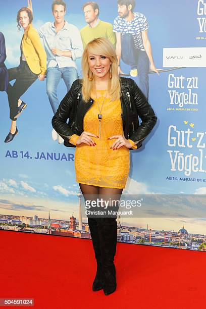 Annemarie Eilfeld attends the premiere of the film 'Gut zu Voegeln' at Kino in der Kulturbrauerei on January 11 2016 in Berlin Germany