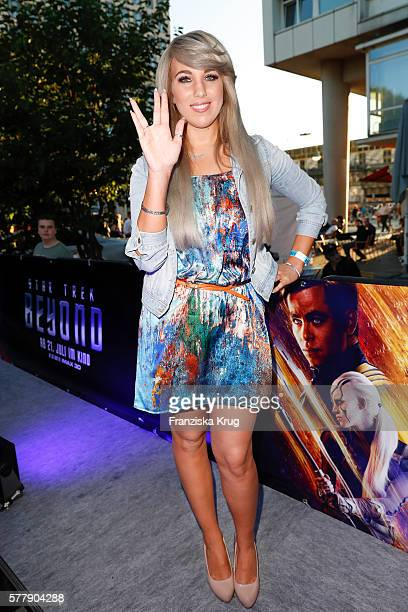 Annemarie Eilfeld attends the VIP screening of the film 'Star Trek Beyond' at Zoopalast on July 19 2016 in Berlin Germany