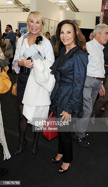 AnneMarie Graff attends a VIP preview of the Frieze Art Fair in Regent's Park on October 12 2011 in London England