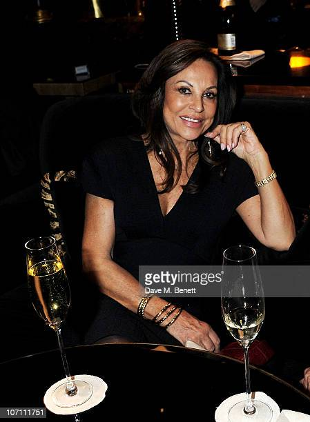 AnneMarie Graff attends the opening of The Beaufort Bar hosted by Nicky Haslam at The Savoy Hotel on November 24 2010 in London England