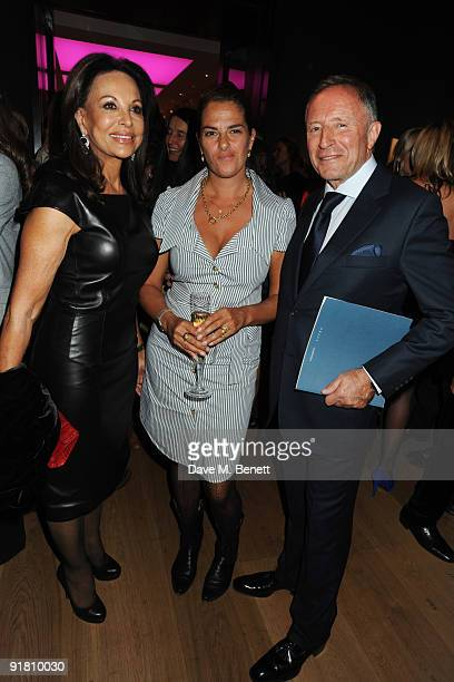 AnneMarie Graff Tracey Emin and Laurence Graff attend the Graff charity auction and reception in aid of FACET at Christie's on October 12 2009 in...