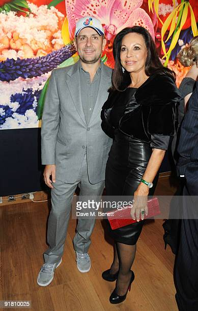 AnneMarie Graff with Marc Quinn attend the Graff charity auction and reception in aid of FACET at Christie's on October 12 2009 in London England