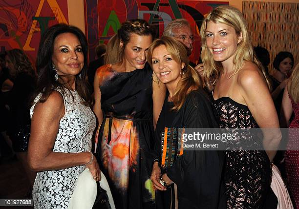 AnneMarie Graff Yasmin Le Bon Amanda Clyne and Meredith Ostrom attend the private view of the Royal Academy Summer Exhibition 2010 at the Royal...