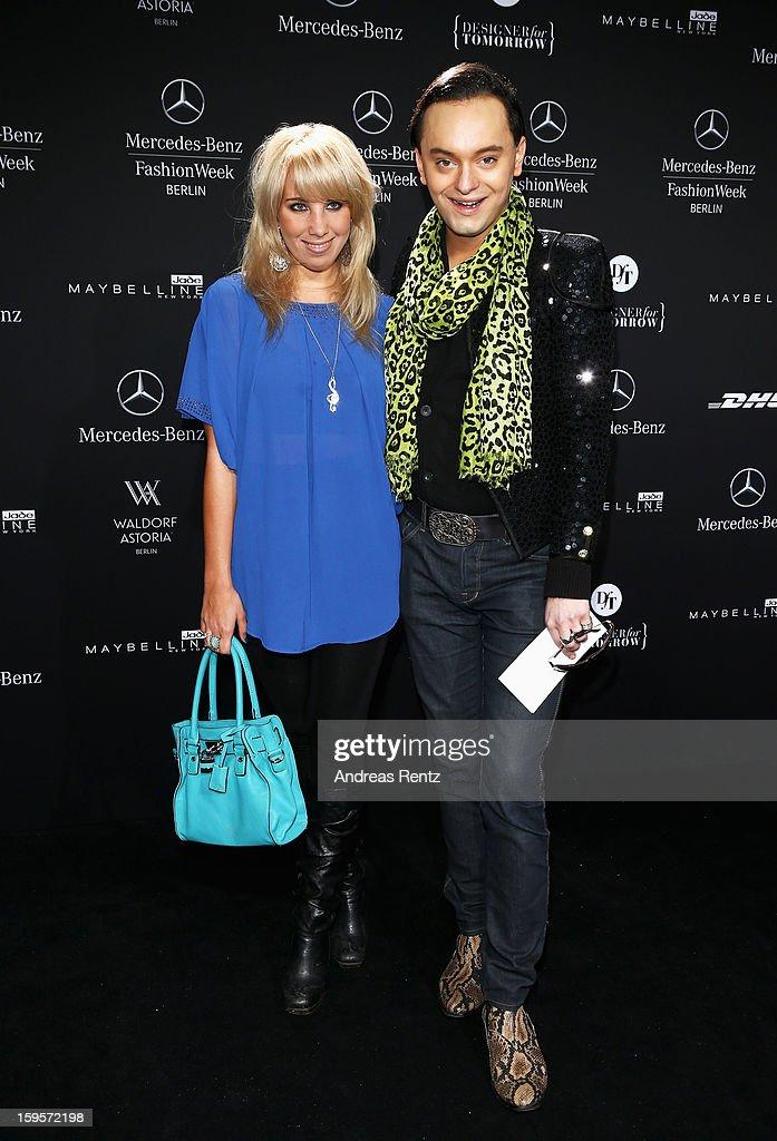 Annemarie Heilfeld attends Dimitri Autumn/Winter 2013/14 fashion show during Mercedes-Benz Fashion Week Berlin at Brandenburg Gate on January 16, 2013 in Berlin, Germany.