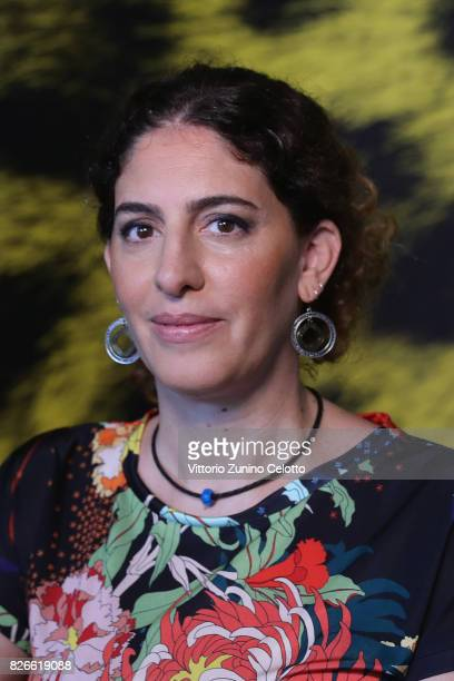 Annemarie Jacir attends 'Duty' photocall during the 70th Locarno Film Festival on August 5 2017 in Locarno Switzerland