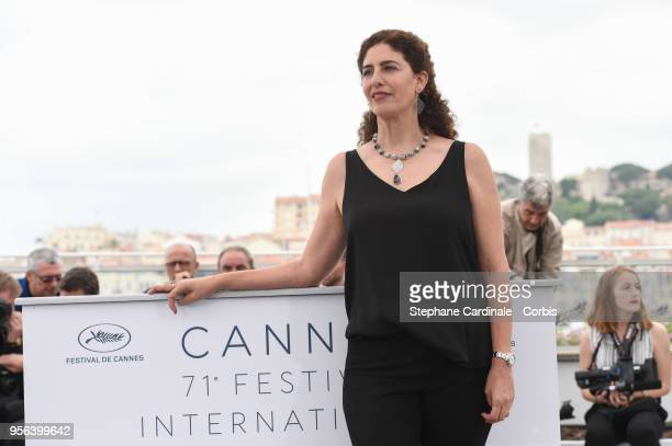 Annemarie Jacir attends the photocall for Semaine de la Critique Jury during the 71st annual Cannes Film Festival at Palais des Festivals on May 9...
