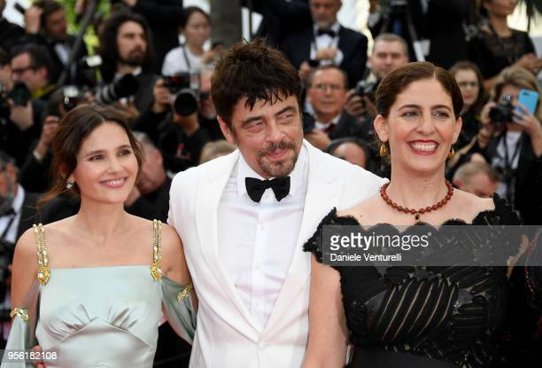 Annemarie Jacir Benicio Del Toro Virginie Ledoyen attend the screening of 'Everybody Knows ' and the opening gala during the 71st annual Cannes Film...