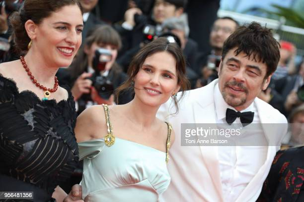 AnneMarie Jacir Virginie Ledoyen and Benicio Del Toro attend the screening of Everybody Knows and the opening gala during the 71st annual Cannes Film...