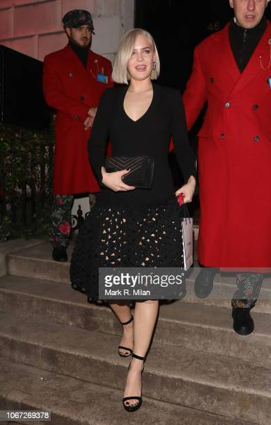 AnneMarie leaving Annabel's Club on November 13 2018 in London England