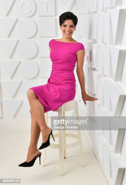 AnneMarie Mediwake poses at the CTV Upfronts portrait studio held at the Sony Centre For Performing Arts on June 7 2018 in Toronto Canada