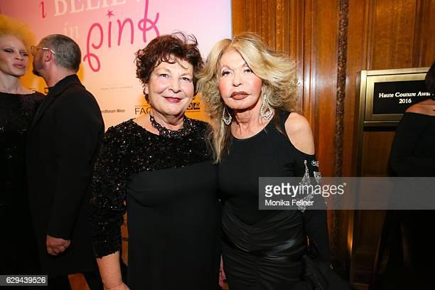 Annemarie Moelzer and Jeannine Schiller attend the Haute Couture Austria Awards at Park Hyatt Vienna on December 12, 2016 in Vienna, Austria.