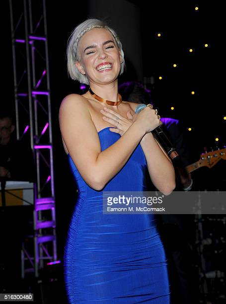AnneMarie performs as part of 'An Evening With Suggs And Friends' in aid of pancreatic cancer at Emirates Stadium on March 17 2016 in London England