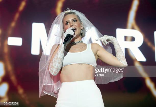 AnneMarie performs at Kiss Haunted House Party 2018 at The SSE Arena Wembley on October 26 2018 in London England