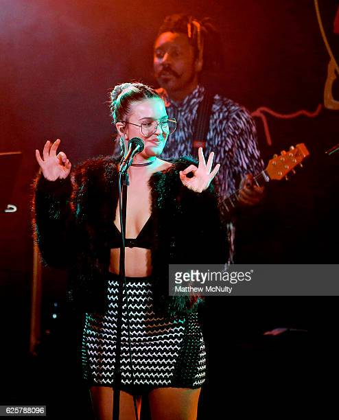 AnneMarie performs at Manchester Gorilla on November 25 2016 in Manchester England