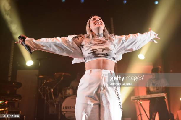 AnneMarie performs live on stage at The O2 Institute Birmingham on March 19 2018 in Birmingham England