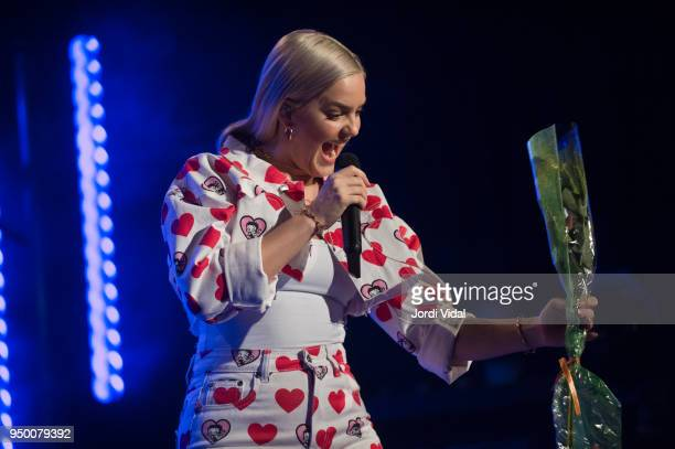 AnneMarie performs on stage at Bikini on April 22 2018 in Barcelona Spain