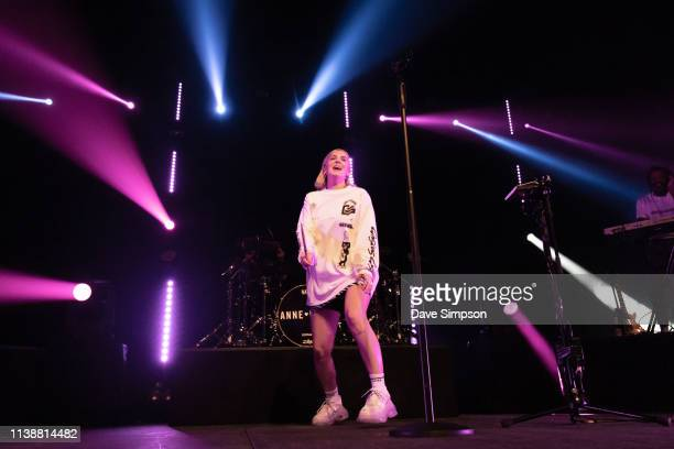 AnneMarie performs on stage at her first ever headline show in New Zealand at Spark Arena on March 28 2019 in Auckland New Zealand