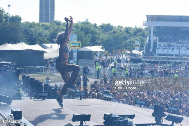 AnneMarie performs on stage at the Barclaycard Presents British Summer Time Festival in Hyde Park on July 2 2017 in London England