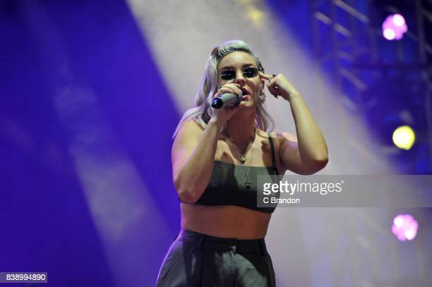 AnneMarie performs on stage during Day 1 of the Reading Festival at Richfield Avenue on August 25 2017 in Reading England