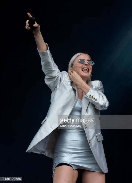 AnneMarie performs on stage during Isle of Wight Festival 2019 at Seaclose Park on June 15 2019 in Newport Isle of Wight