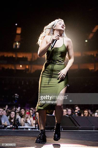 AnneMarie performs onstage at The O2 Arena on March 3 2016 in London England