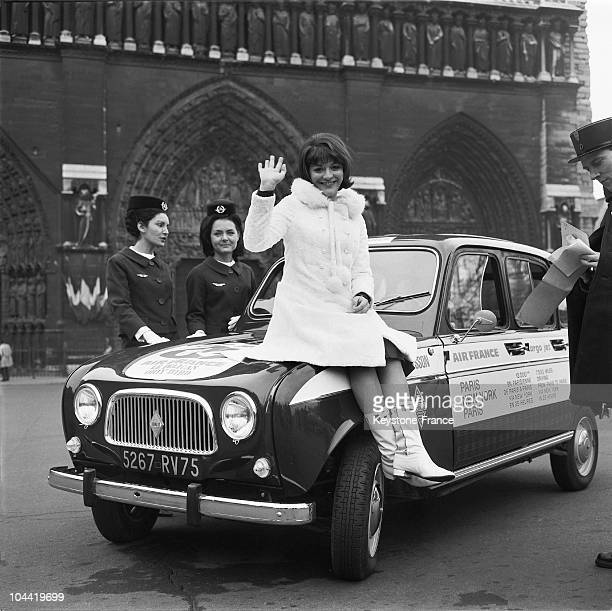 AnneMarie Peysson Leaving To Orly In 1965