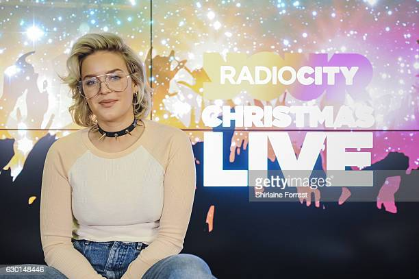 AnneMarie poses backstage at Radio City Christmas Live at Echo Arena on December 17 2016 in Liverpool England