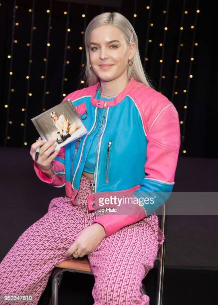 AnneMarie poses during her signing session at HMV Oxford Street on April 28 2018 in London England
