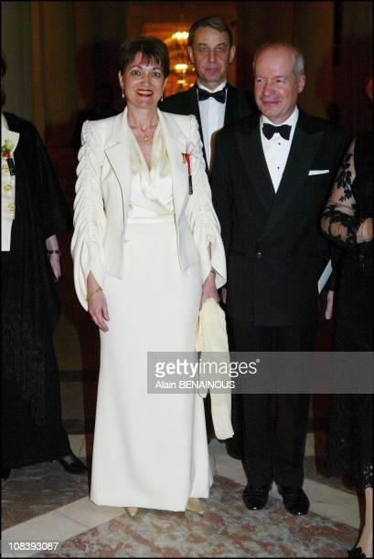 Anne-Marie Raffarin In Versailles, France on January 01, 2004.