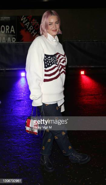 AnneMarie seen attending Tommy Hilfiger catwalk show at Tate Modern during LFW February 2020 on February 16 2020 in London England