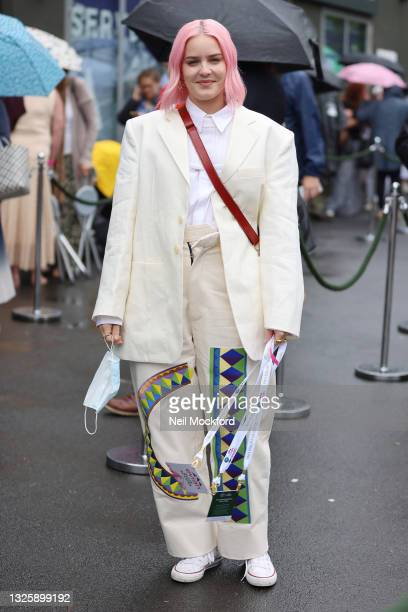 Anne-Marie seen outside Wimbledon Tennis Championships 2021 at The All Englands Lawn Tennis Club on June 28, 2021 in London, England.