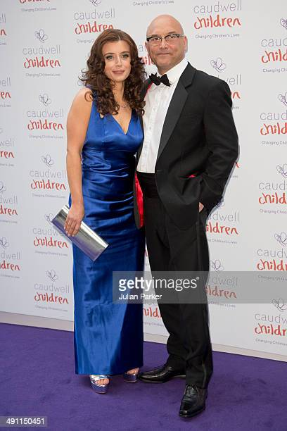 Anne-Marie Sterpini and Gregg Wallace attend the Caudwell Children Butterfly Ball at The Grosvenor House Hotel on May 15, 2014 in London, England.