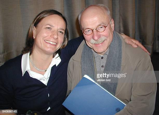 Annemarie Stoltenberg Fernsehmoderatorin D mit ihrem Lebensgefährten Michael Seufert Schriftsteller