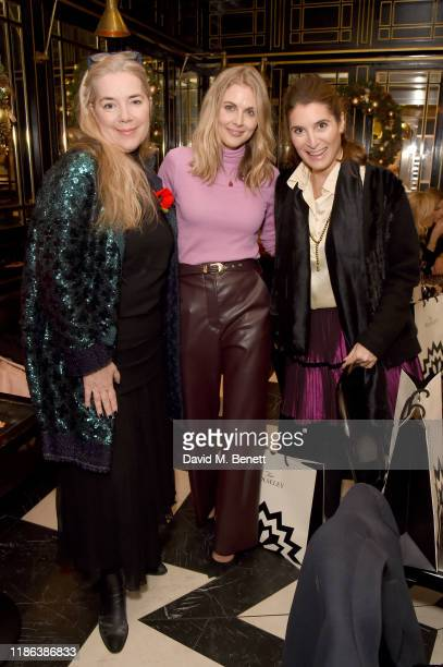 AnneMarie VerdinMulot Donna Air with guest attend the launch of the Bicester Village Christmas Experience on November 08 2019 in Bicester England