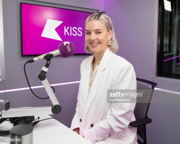 AnneMarie visits KISS FM UK radio studios on July 16 2019 in London England