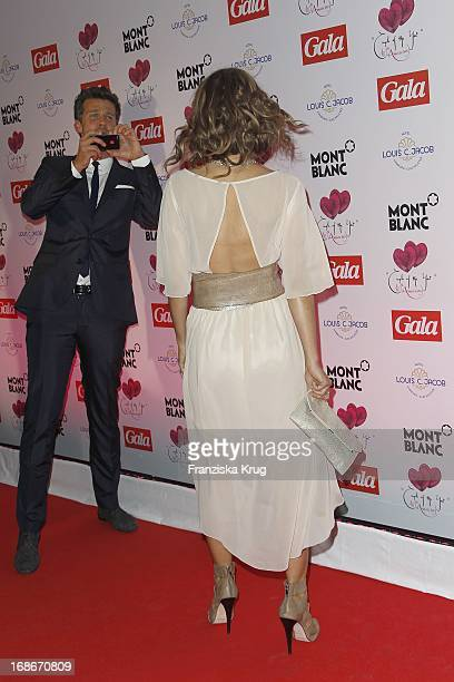 Annemarie Warnkross And friend Wayne Carpendale at the Couple Of The Year Award by GALA and Montblanc at Hotel Louis C Jacobs in Hamburg
