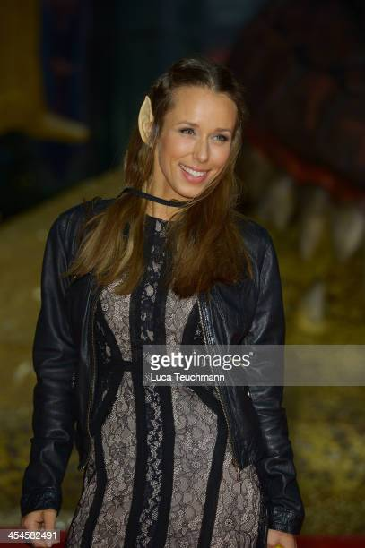 Annemarie Warnkross attends the German premiere of the film 'The Hobbit: The Desolation Of Smaug' at Sony Centre on December 9, 2013 in Berlin,...