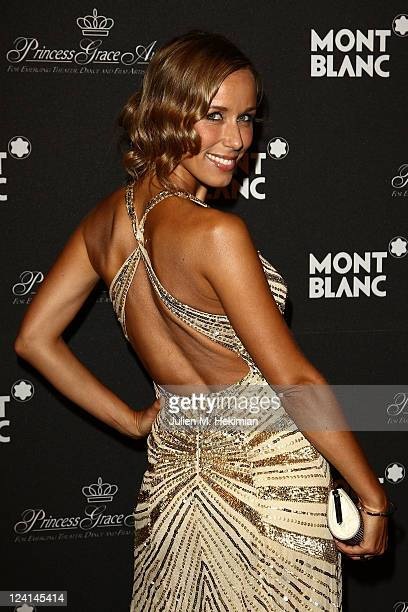 Annemarie Warnkross attends the Montblanc Collection Princesse Grace de Monaco World Premiere presentation under the High Patronage of HSH Prince...