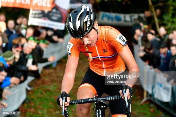 Annemarie Worst from Netherlands on Day 3 of the Women's Elite European Cyclocross Championships on November 04, 2018 in 's-Hertogenbosch,...