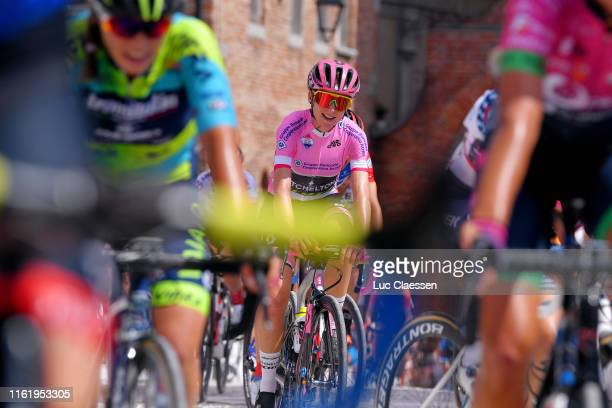 Annemiek Van Vleuten of The Netherlands and Team Mitchelton Scott Pink Leader Jersey / during the 30th Tour of Italy 2019 Women Stage 10 a 120km...