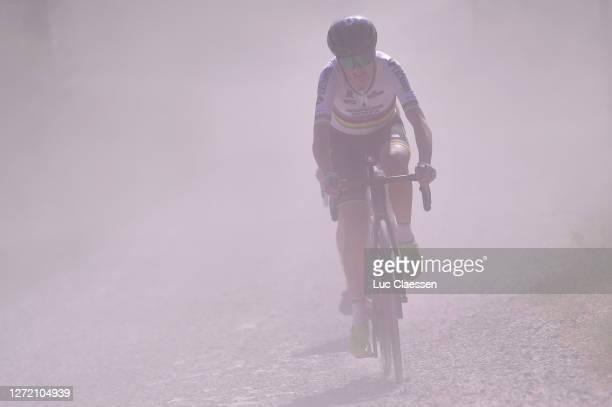Annemiek Van Vleuten of The Netherlands and Team Mitchelton Scott / Gravel Strokes / Dust / during the 31st Giro d'Italia Internazionale Femminile...