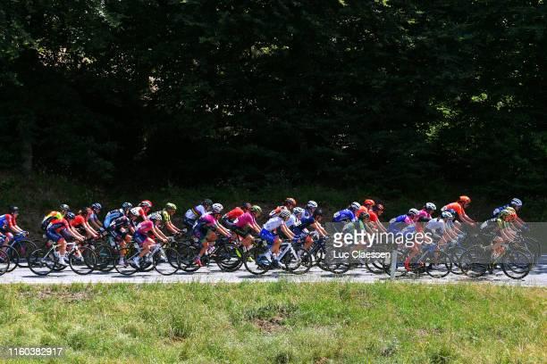 Annemiek Van Vleuten of The Netherlands and Team Mitchelton Scott UCI Leader Jersey / Elena Pirrone of Italy and Valcar Cylance Cycling Team / Eider...