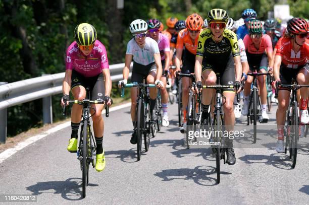 Annemiek Van Vleuten of The Netherlands and Team Mitchelton Scott UCI Leaders Jersey / Lucy Kennedy of Australia and Team Mitchelton Scott / Cecilie...