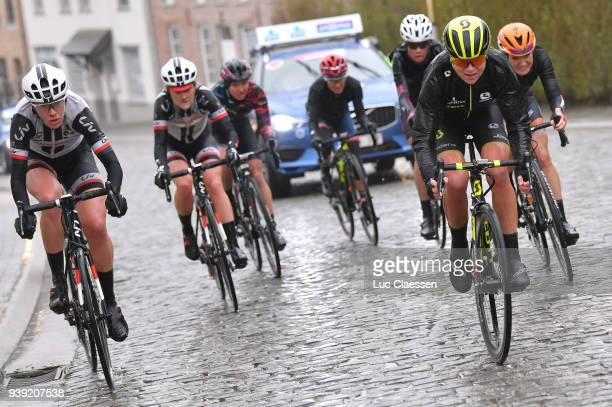 Annemiek Van Vleuten of The Netherlands and Team MitcheltonScott / Floortje Mackaij of The Netherlands and Team Sunweb / Ellen van Dijk of The...