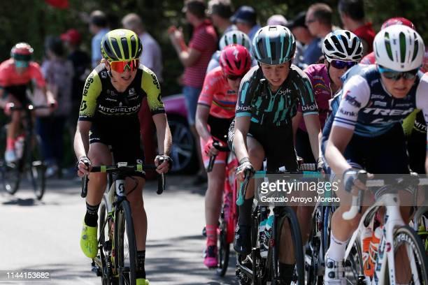 Annemiek van Vleuten of The Netherlands and Team Mitchelton-Scott Women / Cecilie Uttrup Ludwig of Denmark and Bigla Pro Cycling Team / during the...
