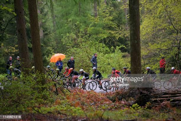 Annemiek Van Vleuten of The Netherlands and Team Mitchelton-Scott / Cecilie Uttrup Ludwig of Denmark and Bigla Pro Cycling Team / Amanda Spratt of...