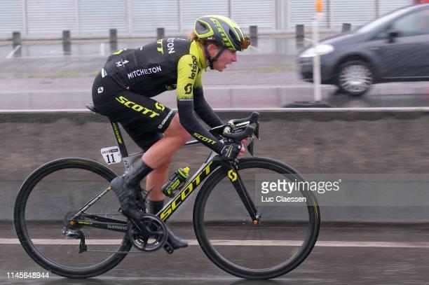 Annemiek Van Vleuten of The Netherlands and Team MitcheltonScott / Rain / during the 3rd Liège Bastogne Liège 2019 Women Elite a 1385km race from...
